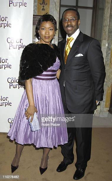 Angela Bassett and husband Courtney B Vance during 'The Color Purple' Broadway Opening Night After Party at The New York Public Library in New York...