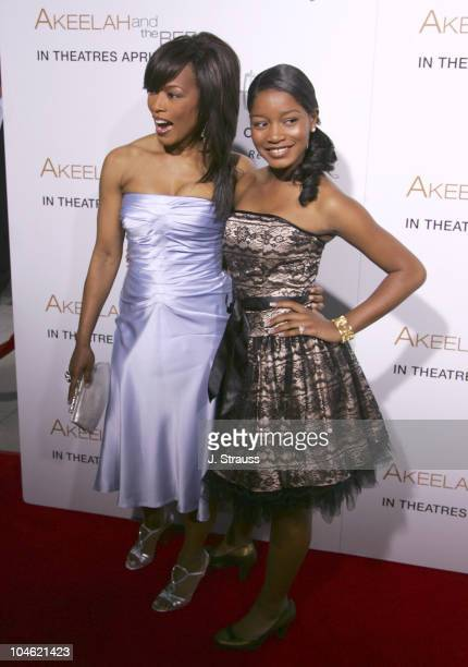 Angela Bassett and Keke Palmer during Akeelah and the Bee Los Angeles Premiere Arrivals at The Academy of Motion Picture Arts and Sciences in Beverly...