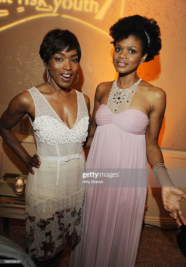 Angela Bassett and Kimberly Elise attend the CARRY Foundation's 7th Annual 'Shall We Dance' Gala at The Beverly Hilton Hotel on May 11, 2013 in Beverly Hills, California.