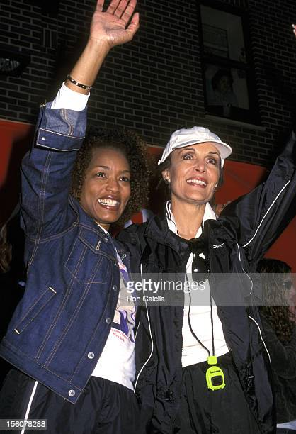 Angela Bassett and Linda Dano during 5th Annual New York Revlon Run/Walk for Women to Raise Funds for Women's Cancer Research Awareness Prevention at...