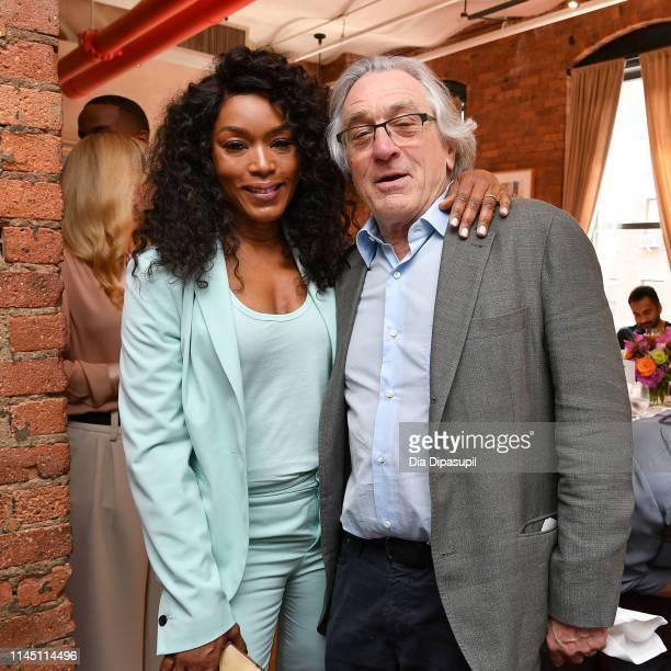 Angela Bassett and Robert De Niro attend the 2019 Tribeca Film Festival Jury Lunch at Tribeca Grill Loft on April 25, 2019 in New York City.