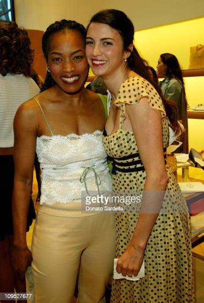 Angela Bassett and Shiva Rose during Tod's Beverly Hills Boutique Charity Event To Benefit Caring For Children Families With Aids at Tod's Beverly...