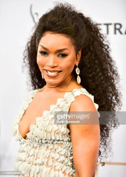 Angela Bassett arrives at the 25th Annual Screen Actors Guild Awards at the The Shrine Auditorium on January 27 2019 in Los Angeles California