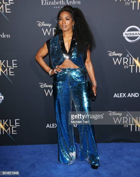 Angela Bassett arrives at the Los Angeles premiere of Disney's 'A Wrinkle In Time' held at El Capitan Theatre on February 26 2018 in Los Angeles...