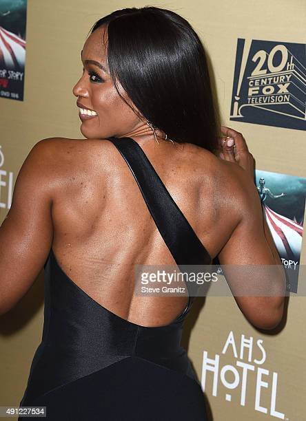 Angela Bassett arrives at the Premiere Screening Of FX's American Horror Story Hotel at Regal Cinemas LA Live on October 3 2015 in Los Angeles...