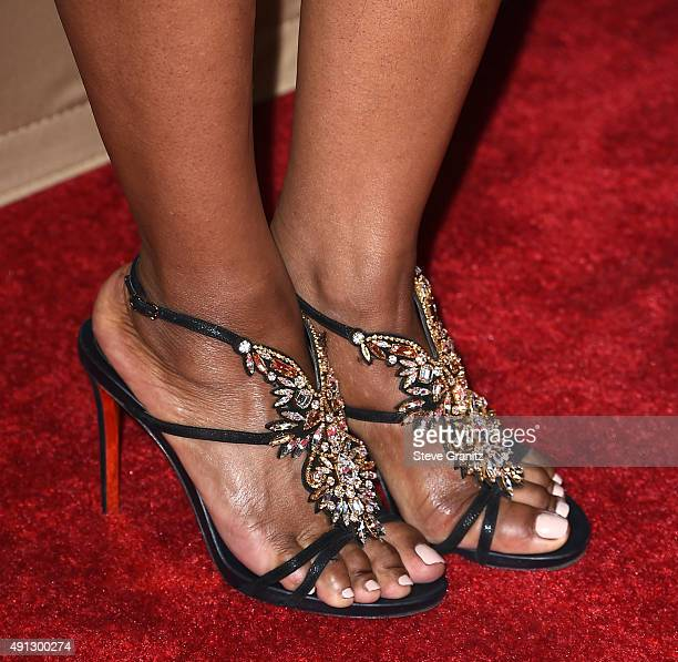 Angela Bassett arrives at the Premiere Screening Of FX's 'American Horror Story Hotel' at Regal Cinemas LA Live on October 3 2015 in Los Angeles...