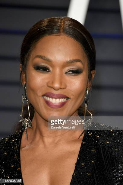Angela Bassett attends 2019 Vanity Fair Oscar Party Hosted By Radhika Jones Arrivals at Wallis Annenberg Center for the Performing Arts on February...