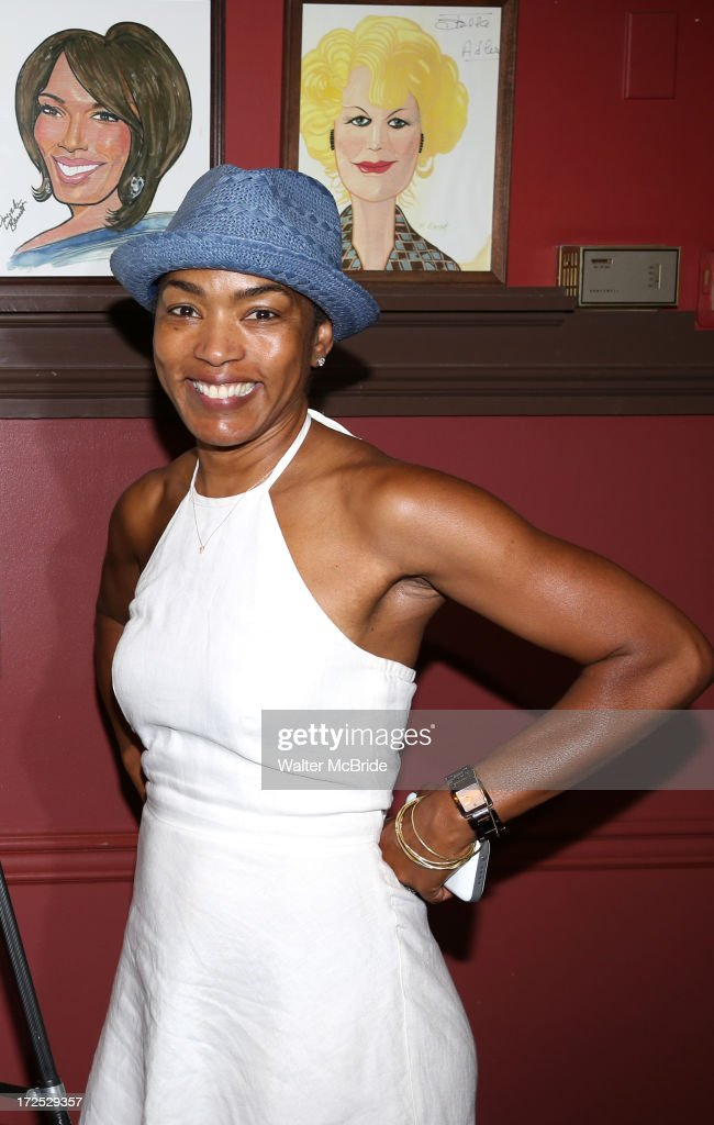 Angela Bassett attends Courtney B. Vance's Caricature Unveiling at Sardi's on July 2, 2013 in New York City.