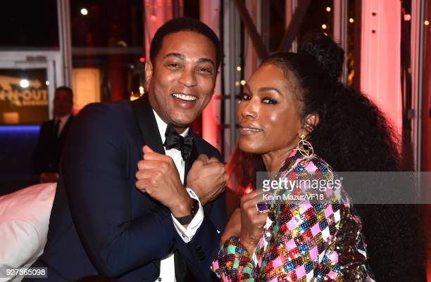 Angela Bassett attends the 2018 Vanity Fair Oscar Party hosted by Radhika Jones at Wallis Annenberg Center for the Performing Arts on March 4 2018 in...