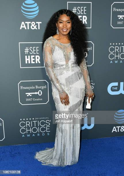 Angela Bassett attends the 24th annual Critics' Choice Awards at Barker Hangar on January 13 2019 in Santa Monica California