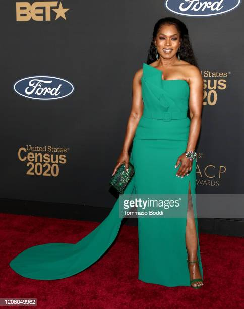 Angela Bassett attends the 51st NAACP Image Awards, Presented by BET, at Pasadena Civic Auditorium on February 22, 2020 in Pasadena, California.