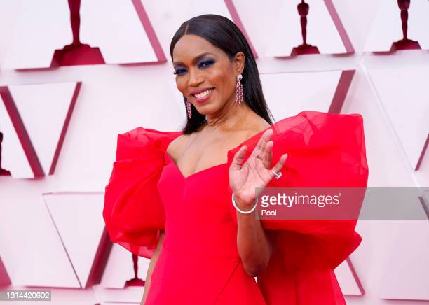 Angela Bassett attends the 93rd Annual Academy Awards at Union Station on April 25, 2021 in Los Angeles, California.