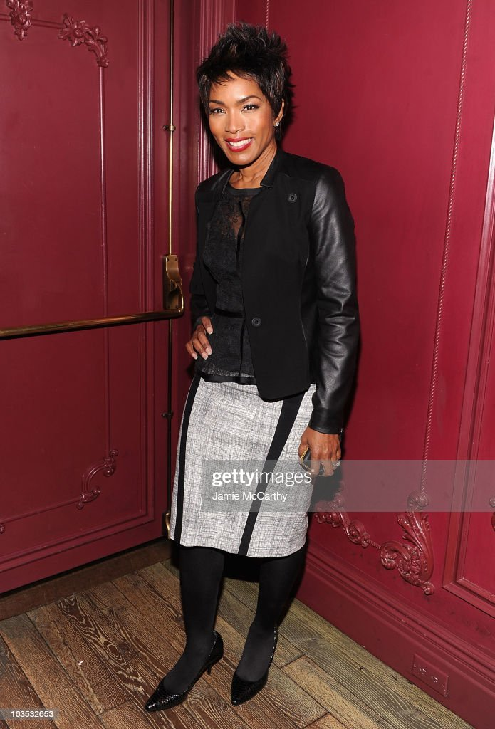 Angela Bassett attends the after party for The Cinema Society with Roger Dubuis and Grey Goose screening of FilmDistrict's 'Olympus Has Fallen' at The Darby on March 11, 2013 in New York City.