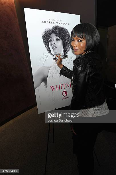 "Angela Bassett attends the Awardsline/Deadline Hollywood Screening Of ""Whitney"" at the Landmark Theatre on June 4, 2015 in Los Angeles, California."