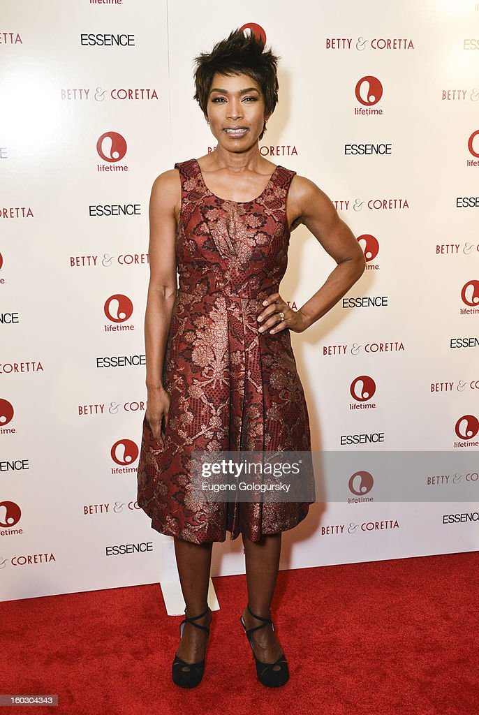 Angela Bassett attends the 'Betty & Coretta' premiere at Tribeca Cinemas on January 28, 2013 in New York City.