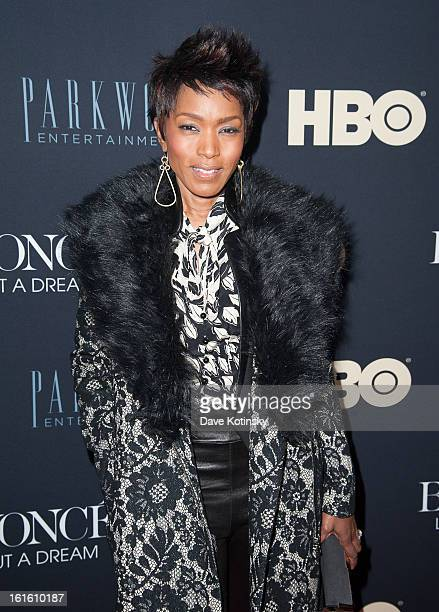 Angela Bassett attends the Beyonce Life Is But A Dream New York Premiere at Ziegfeld Theater on February 12 2013 in New York City