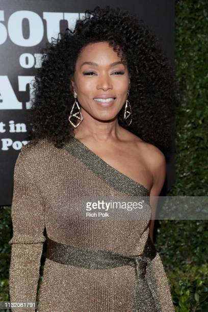 Angela Bassett attends The Broad Museum celebration for the opening of Soul Of A Nation Art in the Age of Black Power 19631983 Art Exhibition at The...