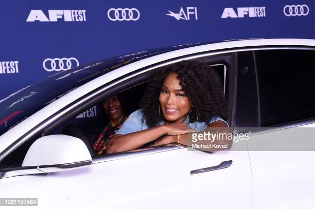 Angela Bassett attends the Centerpiece Drive-in screening of ONE NIGHT IN MIAMI during AFI FEST presented by Audi at the Rose Bowl on October 19,...