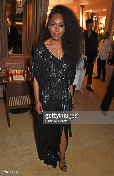 Angela Bassett attends the first annual gala hosted by MAISONDEMODECOM and Perrier Jouet to celebrate Sustainable Style by honoring Suzy Amis Cameron...