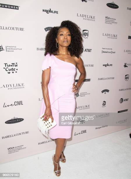 Angela Bassett attends the Ladylike Foundation's 2018 Annual Women Of Excellence Scholarship Luncheon at The Beverly Hilton Hotel on June 2 2018 in...