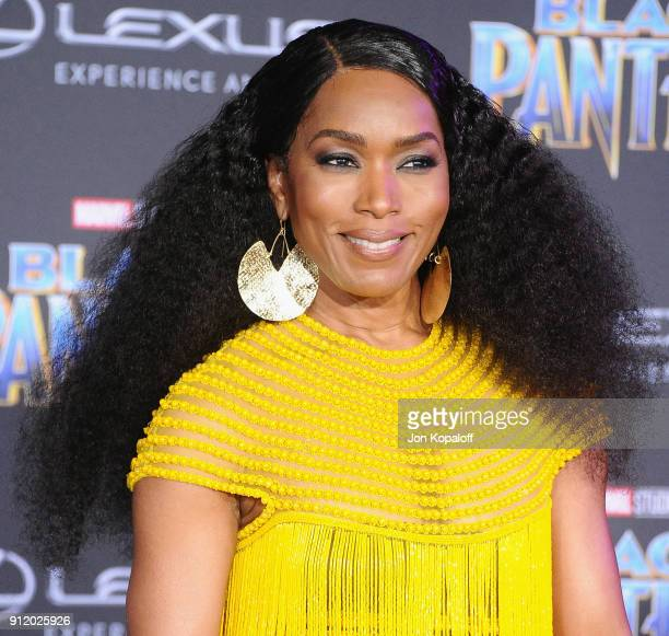 Angela Bassett attends the Los Angeles Premiere 'Black Panther' at Dolby Theatre on January 29 2018 in Hollywood California