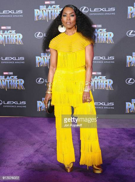 Angela Bassett attends the Los Angeles Premiere Black Panther at Dolby Theatre on January 29 2018 in Hollywood California