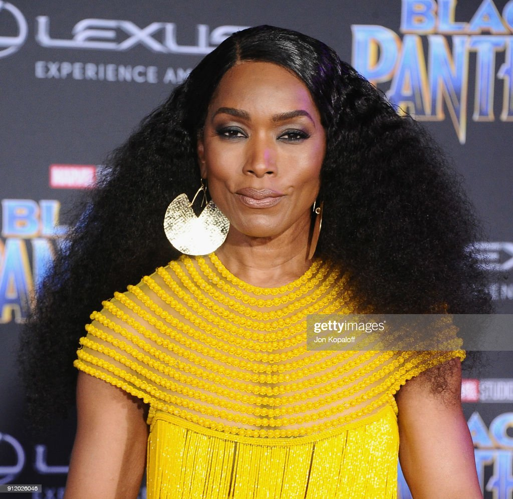 Angela Bassett attends the Los Angeles Premiere 'Black Panther' at Dolby Theatre on January 29, 2018 in Hollywood, California.