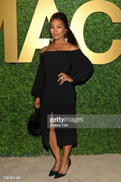 Angela Bassett attends the MACRO Pre-Oscar Party 2019 at Casita Hollywood on February 21, 2019 in Los Angeles, California.