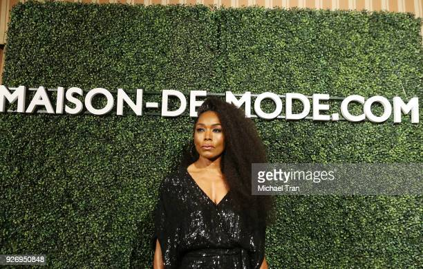 Angela Bassett attends the MAISONDEMODE Celebrates Sustainable Style held at Sunset Tower on March 3 2018 in Los Angeles California