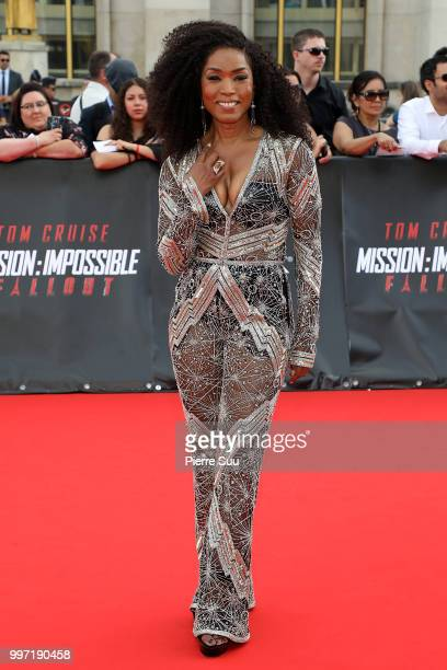 Angela Bassett attends the 'Mission Impossible Fallout' Global Premiere on July 12 2018 in Paris France