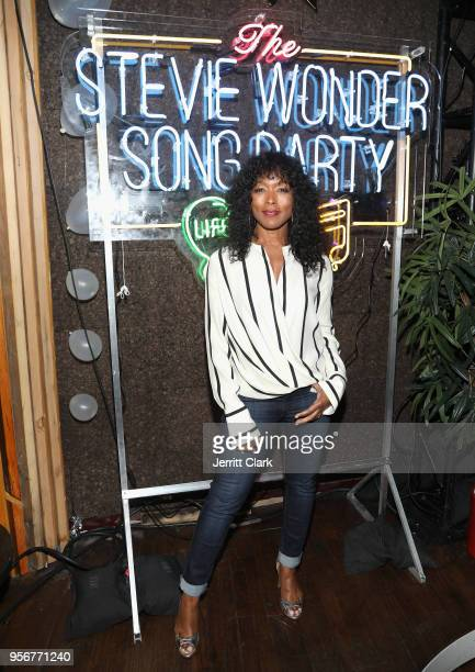 Angela Bassett attends The Stevie Wonder Song Party at The Peppermint Club on May 9 2018 in Los Angeles California