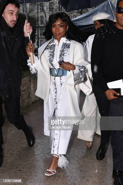 Angela Bassett attends the Valentino show as part of the Paris Fashion Week Womenswear Fall/Winter 2020/2021 on March 01 2020 in Paris France