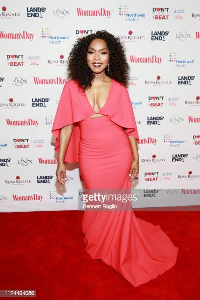 Angela Bassett attends Woman's Day Celebrates 16th Annual Red Dress Awards on February 12 2019 in New York City