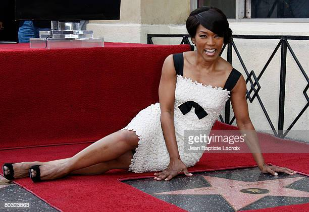 Angela Bassett being honored at the 2358th Star on the Hollywood Walk of Fame ceremony held on Hollywood Blvd on March 20 2008 in Hollywood California