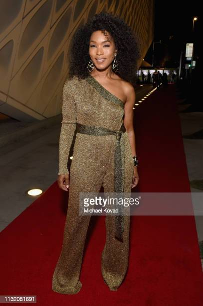 Angela Bassett celebrates with Land Rover at The Broad museum's opening celebration of its new art exhibition Soul of a Nation Art in the Age of...