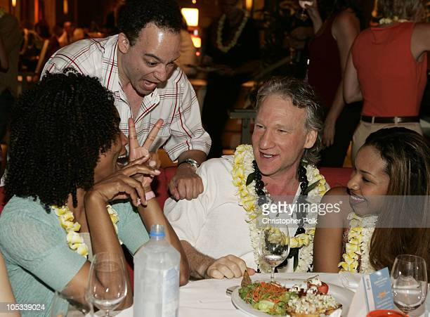 Angela Bassett Christopher Reid and Bill Maher during 2004 Maui Film Festival at Wailea Presented by Tommy Bahama at Maui in Maui Hawaii United States