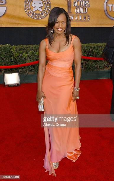 Angela Bassett during 12th Annual Screen Actors Guild Awards Arrivals at Shrine Expo Hall in Los Angeles California United States