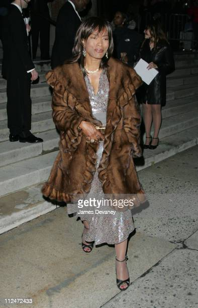 Angela Bassett during Star Jones and Al Reynolds Wedding Ceremony Arrivals and Departures at St Bartholomew's in New York City New York United States