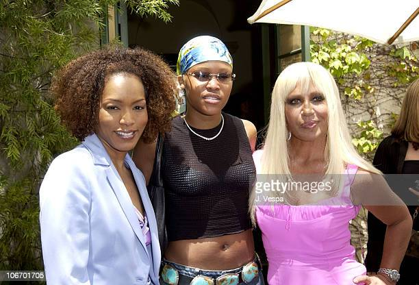 Angela Bassett Eve and Donatella Versace during Versace Luncheon to Benefit Children's Action NetworkWestside Children's Center Sponsored By InStyle...