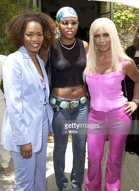 Angela Bassett Eve and Donatella Versace during Versace Luncheon to Benefit Children's Action NetworkWestside Children's Center Sponsored By...
