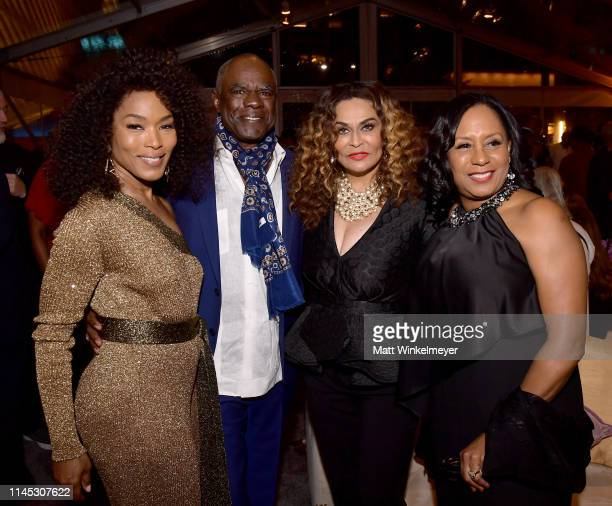 Angela Bassett Glynn Turman Tina Knowles Lawson and JoAnn Allen attend The Broad Museum celebration for the opening of Soul Of A Nation Art in the...