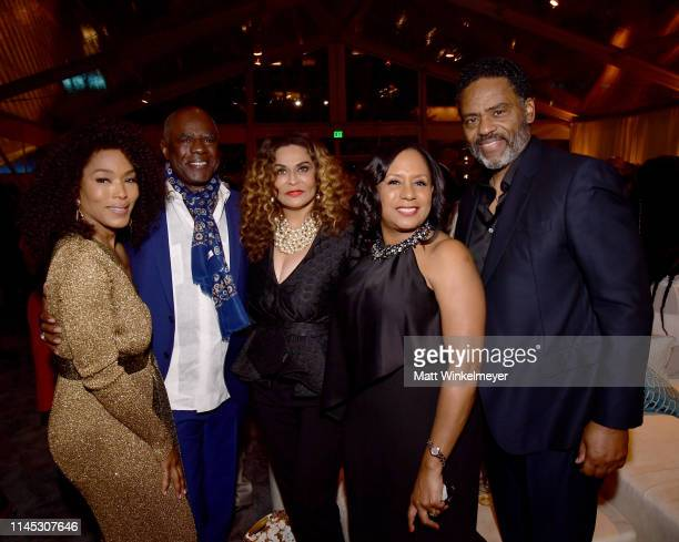 Angela Bassett Glynn Turman Tina Knowles Lawson JoAnn Allen and Richard Lawson attend The Broad Museum celebration for the opening of Soul Of A...