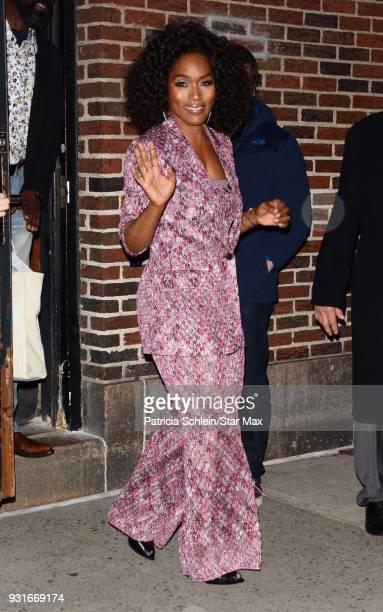 Angela Bassett is seen on March 13 2018 in New York City