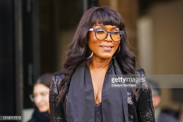 Angela Bassett is seen, outside Elie Saab, during Paris Fashion Week - Womenswear Fall/Winter 2020/2021, on February 29, 2020 in Paris, France.