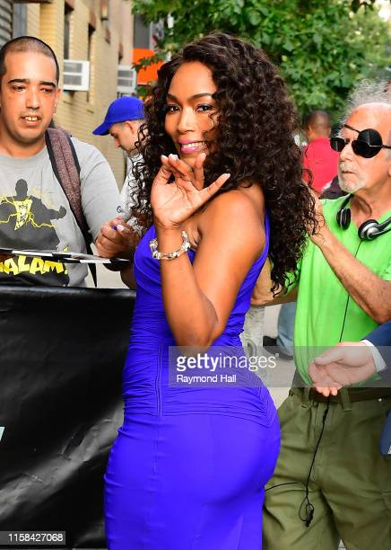 """Angela Bassett is seen outside """"The Daily Show with Trevor Noah"""" on July 29, 2019 in New York City."""