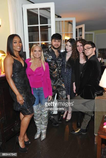 Angela Bassett Kristin Chenoweth Brad Walsh Michelle Trachtenberg Jen Rade and Christian Siriano celebrate the launch of Siriano's new book 'Dresses...