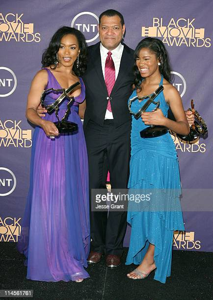 Angela Bassett Laurence Fishburne and Keke Palmer winners of acting awards for Akeelah and the Bee 12557_JG_0416jpg