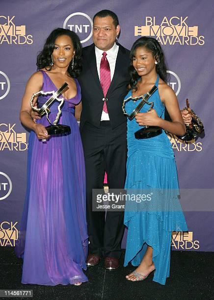 "Angela Bassett, Laurence Fishburne and Keke Palmer, winners of acting awards for ""Akeelah and the Bee"" 12557_JG_0414.jpg"