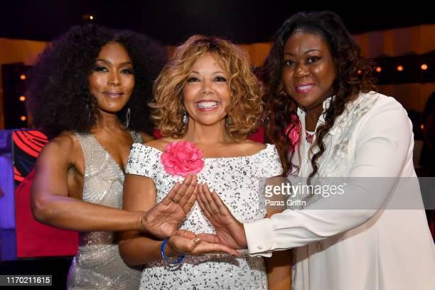 Angela Bassett Lucy McBath and Sybrina Fulton attend Black Girls Rock 2019 Hosted By Niecy Nash at NJPAC on August 25 2019 in Newark New Jersey