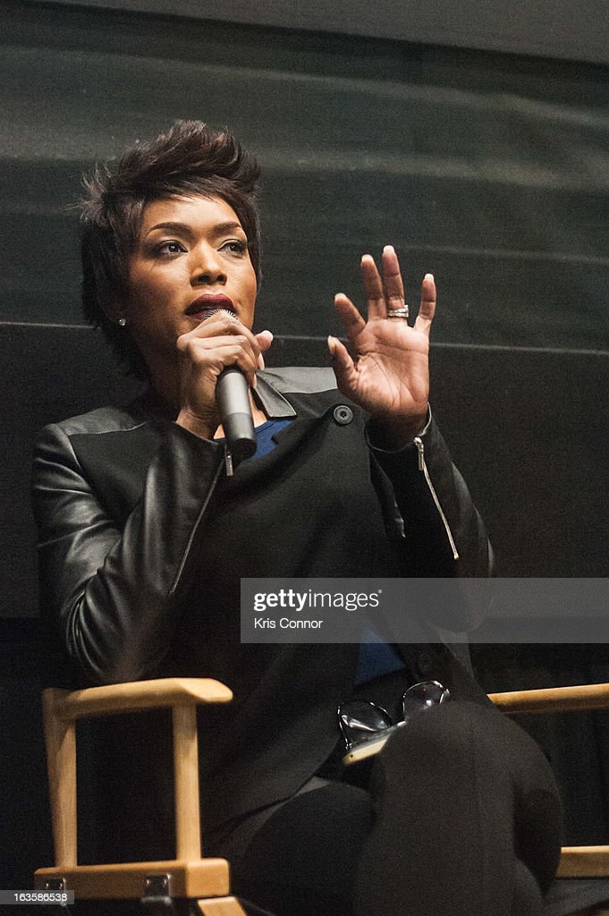 Angela Bassett Picture speaks during the 'Olympus Has Fallen' screening at AMC Loews Georgetown 14 on March 12, 2013 in Washington, DC.
